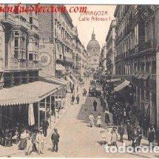 Postales: ZARAGOZA. CALLE ALFONSO I. Lote 213874906
