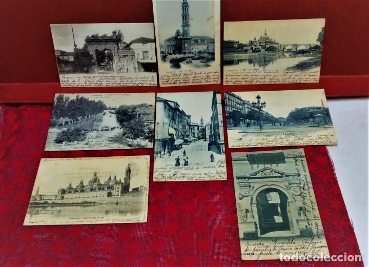 LOTE DE 7 POSTALES DE ZARAGOZA.ENTRE 1906 A 1909. (Postales - España - Aragón Antigua (hasta 1939))