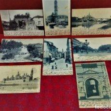 Postales: LOTE DE 7 POSTALES DE ZARAGOZA.ENTRE 1906 A 1909.. Lote 213927593