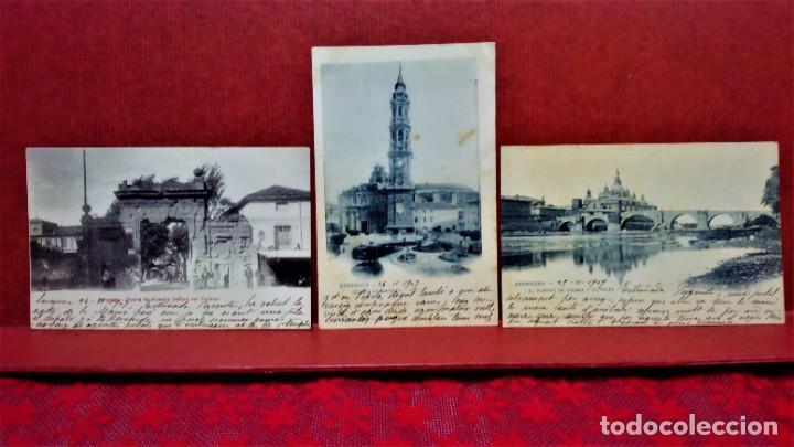 Postales: LOTE DE 7 POSTALES DE ZARAGOZA.ENTRE 1906 A 1909. - Foto 2 - 213927593