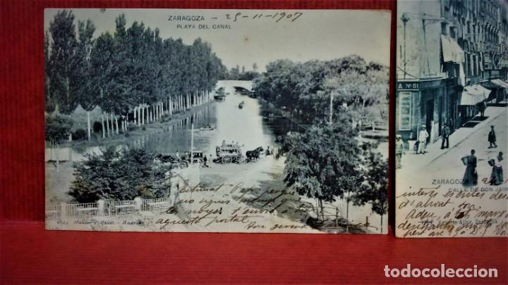 Postales: LOTE DE 7 POSTALES DE ZARAGOZA.ENTRE 1906 A 1909. - Foto 6 - 213927593