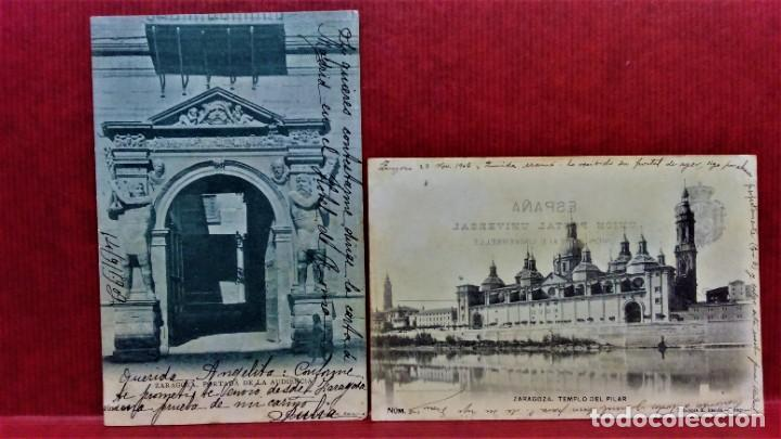 Postales: LOTE DE 7 POSTALES DE ZARAGOZA.ENTRE 1906 A 1909. - Foto 8 - 213927593