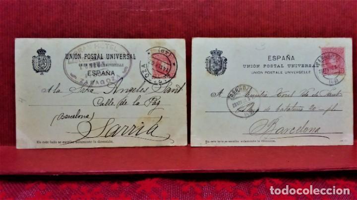 Postales: LOTE DE 7 POSTALES DE ZARAGOZA.ENTRE 1906 A 1909. - Foto 9 - 213927593