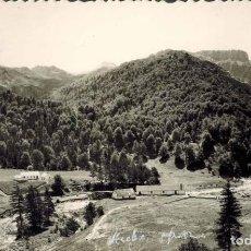 Postales: VALLE DE OZA (HECHO) HUESCA. Nº 13, VISTA GENERAL DE LOS CHALETS FORESTALES. FOTOGÁFICA ED. SICILIA. Lote 214152285