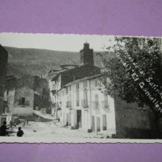 Postales: ANTIGUA TARJETA POSTAL FOTOGRÁFICA DE ARCOS DE LAS SALINAS TERUEL CON EL GAMELLÓN - AÑO 1950S.. Lote 214493918
