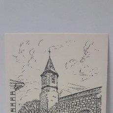 Postales: POSTAL DE LASPAULES - IGLESIA . DIBUJO M. LACOMA . EDITA D. SUBIAS. SIN CIRCULAR. Lote 215689881