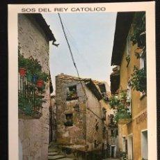 Postales: POSTAL SOS DEL REY CATÓLICO - ZARAGOZA - EDICIONES SICILIA DE LUJO Nº 4. Lote 216400120