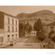 Postales: ALHAMA DE ARAGÓN.(ZARAGOZA).- CONTINUACIÓN DE LA CALLE ANTONIO PÉREZ. POSTAL FOTOGRÁFICA.. Lote 216717960