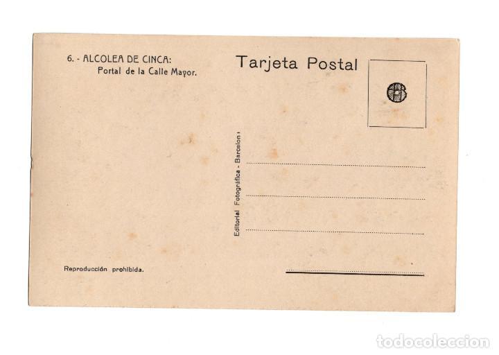 Postales: ALCOLEA DE CINCA.(HUESCA).- PORTAL DE LA CALLE MAYOR. POSTAL FOTOGRÁFICA. - Foto 2 - 216725960