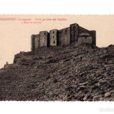 Postales: MEQUINENZA.(ZARAGOZA).- VISTA GENERAL DEL CASTILLO.. Lote 216817251