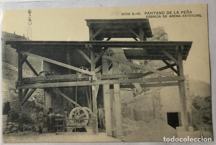PANTANO DE LA PEÑA , HUESCA , ARAGÓN , FABRICA DE ARENA ARTIFICIAL , HAUSER Y MENET , MADRID (Postales - España - Aragón Antigua (hasta 1939))