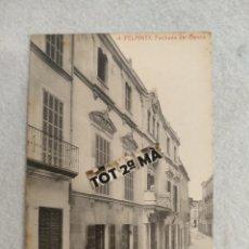 Cartes Postales: POSTAL FELANITX, FACHADA DEL BANCO.. Lote 218034847