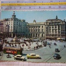 Cartes Postales: POSTAL DE ZARAGOZA. AÑO 1960. PLAZA DE ESPAÑA. 709 GARRABELLA. TRANVÍAS. 2406. Lote 218055512