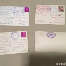 Cartes Postales: 4 POSTALES DEL PIRINEO ARAGONÉS CON MATA SELLOS REFUGIOS DE GORIZ Y LA RENCLUSA. Lote 218384336