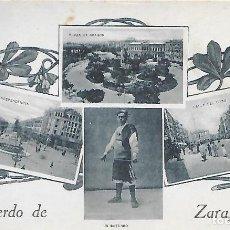 Postales: POSTAL RECUERDOS DE ZARAGOZA .. Lote 218498936