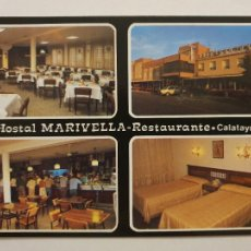 Cartes Postales: CALATAYUD - HOSTAL MARIVELLA - RESTAURANTE - LMX - ZAR2. Lote 218941418