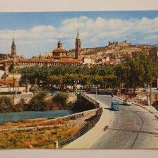 Cartes Postales: CALATAYUD - PUENTE SOBRE EL RÍO JALÓN Y PLAZA DEL GENERALÍSIMO - LMX - ZAR2. Lote 218941708