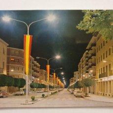 Cartes Postales: EJEA DE LOS CABALLEROS - AVENIDA DE COSCULLUELA - VISTA NOCTURNA - LMX - ZAR2. Lote 218942665