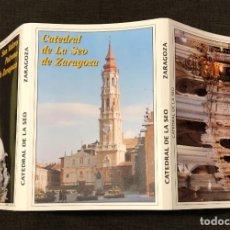 Postales: DESPLEGABLE DE 10 POSTALES (15X10CM) + DVD DE LA CATEDRAL DE LA SEO DE ZARAGOZA. Lote 219148138