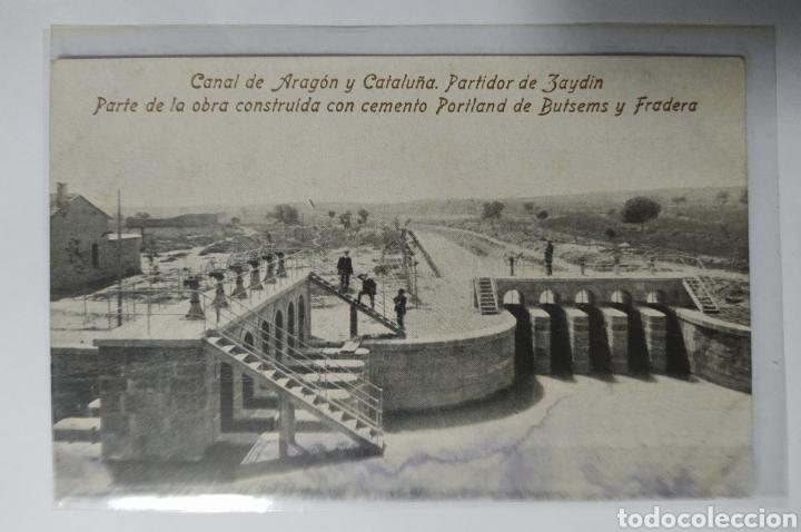 ZAIDÍN, HUESCA, ARAGÓN, PORTLAND, PUBLICIDAD BUTSEMS, Y FRADERA (Postales - España - Aragón Antigua (hasta 1939))