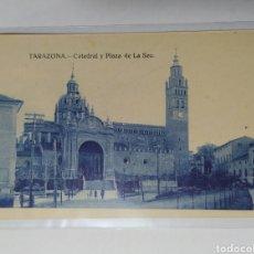 Postales: TARAZONA, ZARAGOZA, ARAGÓN, CATEDRAL Y PLAZA DE LA SEO.. Lote 219594187