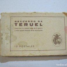 Postales: TERUEL-BLOC DE 15 POSTALES ANTIGUAS-VER FOTOS-(74.529). Lote 220522171