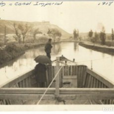 Postales: POSTAL FOTOGRAFICA - ALAGÓN, CANAL IMPERIAL - 1918. SIN CIRCULAR.. Lote 220707626
