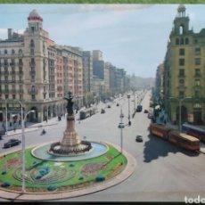 Cartoline: POSTAL N°5 PLAZA DE ESPAÑA Y AVENIDA DE LA INDEPENDENCIA ZARAGOZA. Lote 221093533