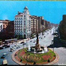 Cartes Postales: POSTAL N°2126 PLAZA DE ESPAÑA Y PASEO DE LA INDEPENDENCIA ZARAGOZA. Lote 221093970