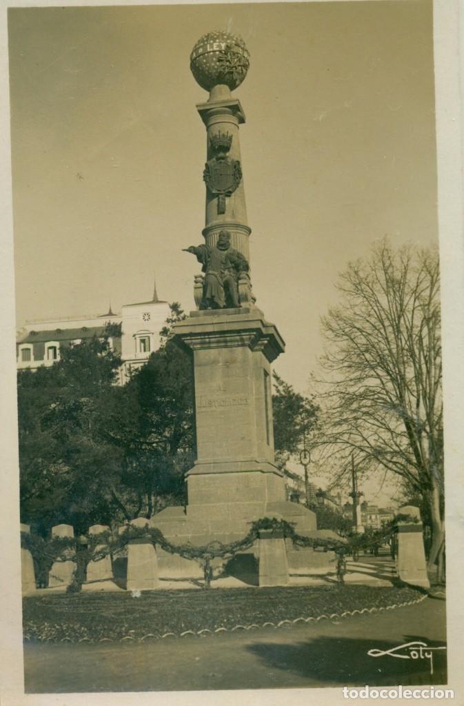 ZARAGOZA. MONUMENTO AL JUSTICIA. EDICIONES LOTY. CIRCULADA EN 1933. MUY RARA. (Postales - España - Aragón Antigua (hasta 1939))