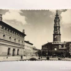 Postales: ZARAGOZA. POSTAL NO.37, CATEDRAL DE LA SEO Y PALACIO DE LA LONJA. EDIC. SICILIA (H.1950?) S/C. Lote 221984435