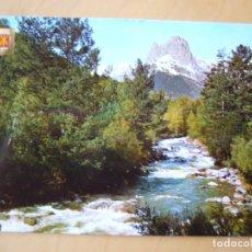 Postales: VALLE DE TENA (HUESCA) - RÍO GÁLLEGO, AL FONDO LA FORATATA (ESCRITA). Lote 222022601