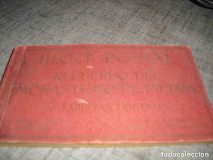 BLOQUE LOTE POSTALES MONASTERIO PIEDRA ZARAGOZA ANTIGUAS COLOREADAS (Postales - España - Aragón Antigua (hasta 1939))