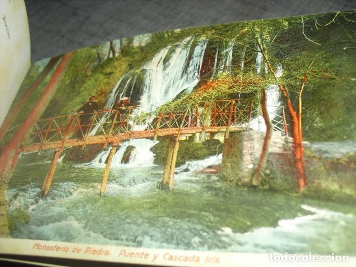 Postales: bloque lote postales monasterio Piedra Zaragoza antiguas coloreadas - Foto 4 - 222036801