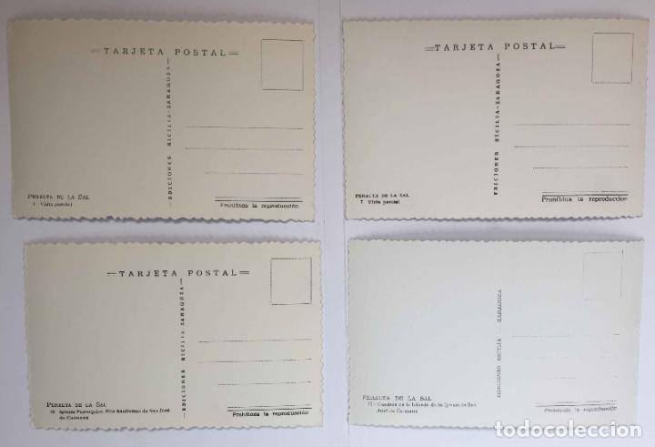 Postales: 4 tarjetas postales: PERALTA DE LA SAL (Huesca, 1950-60's) Sin circular. ¡Originales! Coleccionista - Foto 2 - 222039537
