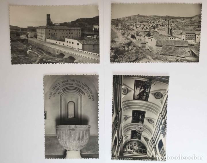 4 TARJETAS POSTALES: PERALTA DE LA SAL (HUESCA, 1950-60'S) SIN CIRCULAR. ¡ORIGINALES! COLECCIONISTA (Postales - España - Aragón Moderna (desde 1.940))