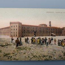 Postales: POSTAL ZARAGOZA CASTILLO DE LA ALJAFERIA ARAGON MUY ANIMADA PERFECTA CONSERVACION. Lote 222610198