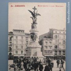 Postales: POSTAL ZARAGOZA Nº 26 MONUMENTO A LOS MARTIRES EDIC MADRIGUERA ARAGON PERFECTA CONSERVACION. Lote 222610518