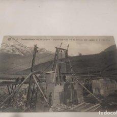 Postales: HUESCA - POSTAL OBRAS DEL SALTO DE EL RUN - CATALANA DE GAS Y ELECTRICIDAD. Lote 222693856