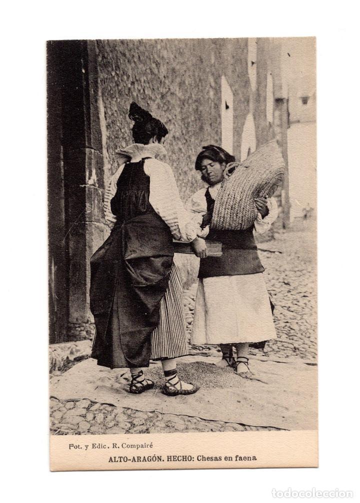 ALTO ARAGÓN.- HECHO: CHESAS EN FAENA. (Postales - España - Aragón Antigua (hasta 1939))