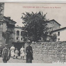 Postales: CASTEJON DE SOS PLAZUELA DE LA MORERA EDICIÓN E. BIELSA. CLICHE M. ARRIBAS. HUESCA SIN CIRCULAR.. Lote 224473706