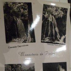 Postales: POSTAL MONASTERIO DE PIEDRA. EDICIONES SICILIA. ZARAGOZA. NO CIRCULADA. Lote 224601847