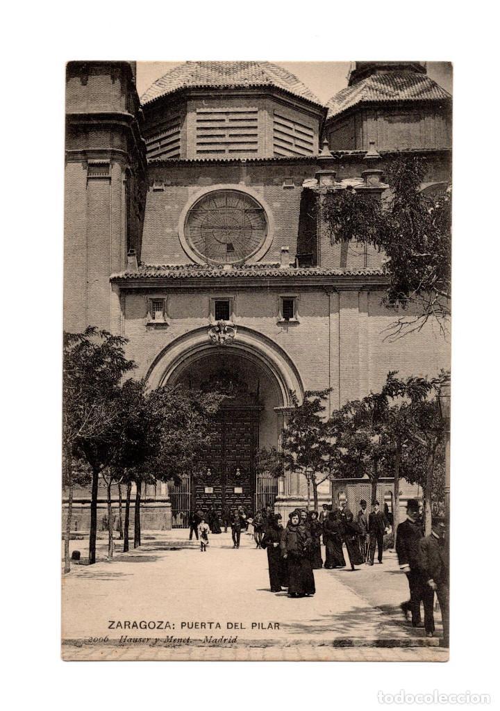 ZARAGOZA.- PUERTA DEL PILAR. (Postales - España - Aragón Antigua (hasta 1939))