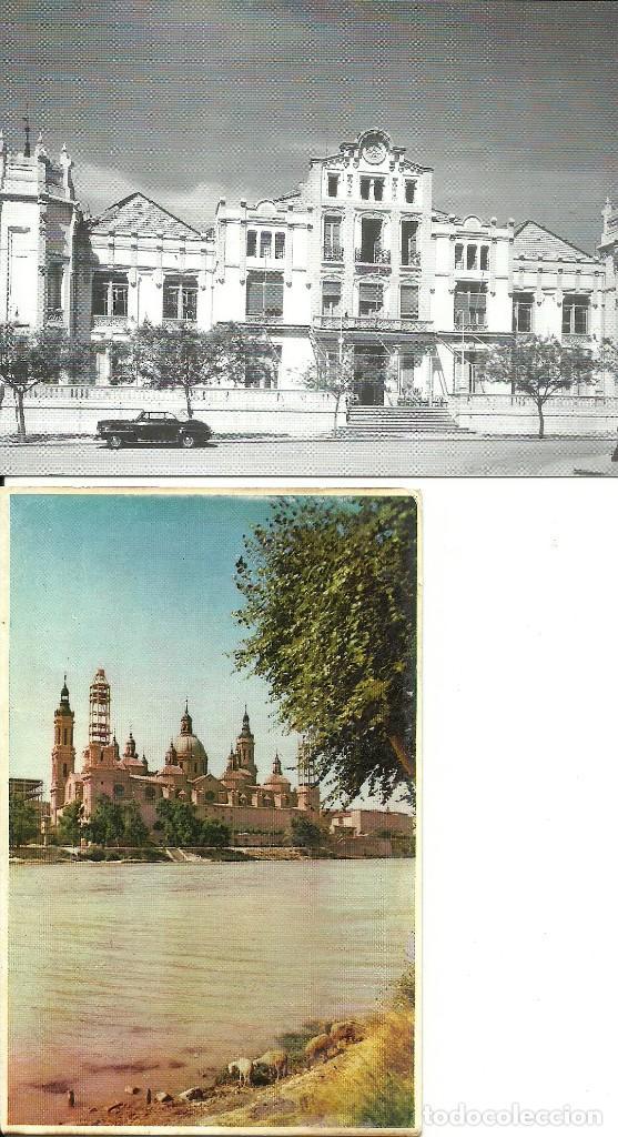 2 TARJETAS POSTALES ANTIGUAS DE ARAGÓN (Postales - España - Aragón Moderna (desde 1.940))
