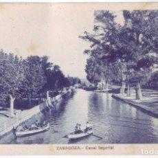Postales: ZARAGOZA: CANAL IMPERIAL. NO CONSTA EDITOR. NO CIRCULADA (AÑOS 20). Lote 226248830
