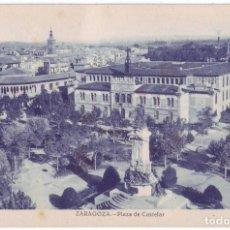 Postales: ZARAGOZA: PLAZA DE CASTELAR. NO CONSTA EDITOR. NO CIRCULADA (AÑOS 20). Lote 226249565