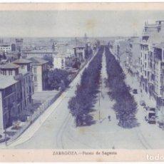 Postales: ZARAGOZA: PASEO DE SAGASTA. NO CONSTA EDITOR. NO CIRCULADA (AÑOS 20). Lote 226251835