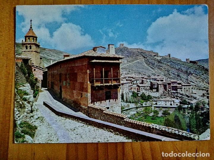 """POSTAL - ALBARRACIN - ALBERGUE S.F. """"ROSA BRIOS"""" Y VISTA PARCIAL. (Postales - España - Aragón Moderna (desde 1.940))"""