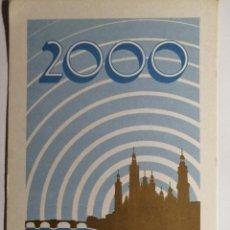 Postales: POSTAL RADIOAFICIONADO BIMILENARIO DE LA CIUDAD DE ZARAGOZA. Lote 233944605