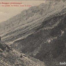 Postales: HUESCA. EL ALTO ARAGÓN PINTORESCO. Nº 63 LAS PAREDES DE ORDESA DESDE LA CUEVA .POSTAL LUCIEN BRIET. Lote 234942970